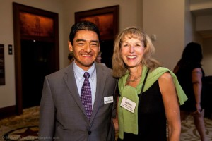 Debbie Johnson and Artemio San Martin at this year's BPE.